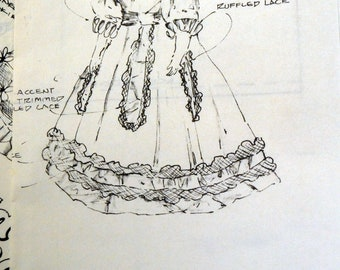 Vintage Ola Finch Cotton Candy Doll Dress No. 01006 Sewing Pattern Complete Uncut 20 inch Doll