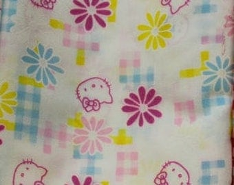 Hello Kitty cotton blend fabric
