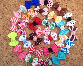 Baby Hair bows  -  Choose 8 - Infant Hair Bows - Toddler Hair Bows - Snap or Alligator clips - Choose from over 100 colors and prints