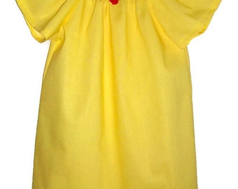 Belle Dress Belle Costume Peasant Dress Girls Dress with Flutter Sleeves Beauty and the Beast Yellow Dress Girls Dresses Princess Dress Up