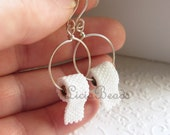 Beaded Toilet Paper earrings on sterling silver or gold handmade ear hooks, allow up to 2 weeks before shipping