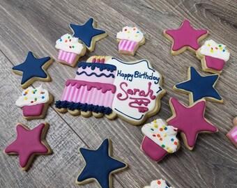 Birthday Party Sugar Cookies- Party Platter 3-dozen