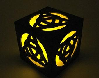 Celtic Knot, Candle Box, Trinity Knot, Wood Lantern, Celtic Lantern, Celtic Nightlight, Candle Votive, LED Candle, Tea Light, Light Box Gift