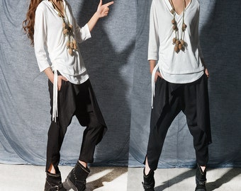 My Zen - boho layered cotton shirt / kimono bottoming shirt / Ninja cotton top / kung fu Ninjutsu Taekwondo top / Asian active wear (Y3112z)