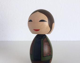 Kokeshi Doll. Jyn Erso Star Wars Rogue one