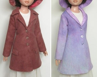 STRAIGHTFORWARD SEWING Pattern SSP-042: Two versions of coat, and one hat, for Ellowyne Wilde & friends.