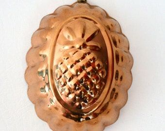 Vintage Revere Ware Copper Pineapple Mold