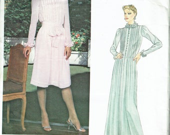 "Vintage Sewing Pattern Ladies' Dress 1980's Vogue 2641 Design Albert Nipon 32 1/2"" Bust - Free Pattern Grading E-book Included"