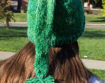 Green Wool Elf Hat Adult Medium/Large