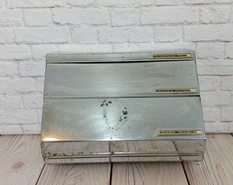 Vintage Three Way Dispenser Chrome Paper Towel Foil Wax Paper Holder Kitchen