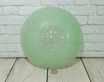 Vintage Green Mint Glass Ceiling Light Globe Fixture