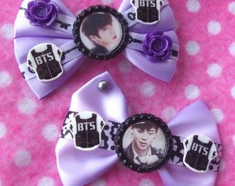 BTS Jimin & Jin Sexy KPOP Hair Bows