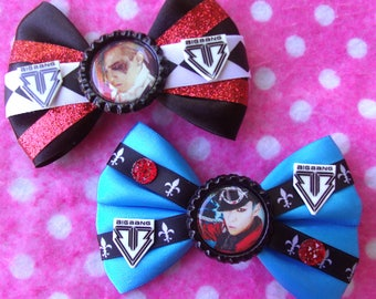 Bigbang GDragon & Top Fantastic Baby KPOP Hair Bows