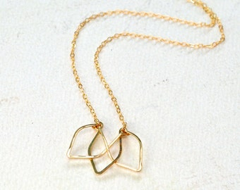 Lotus Necklace - lotus flower necklace, lotus blossom necklace, yoga jewelry, lotus pendant necklace, modern minimalist, handmade, N29/N30