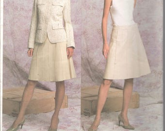 Vogue 2791 DKNY Misses A Line Wrap Skirt and Jacket Pattern Womens Designer Sewing Pattern Size  14 16 18 Bust 36 38 40 UNCUT