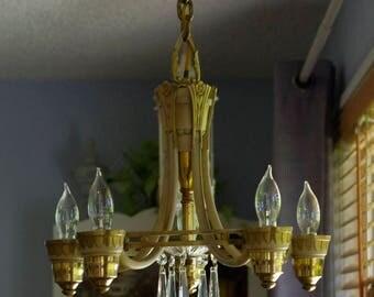 Antique Art Deco Light Ceiling Fixture Chandelier