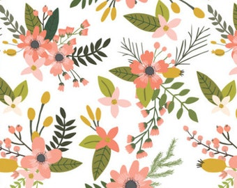 coral baby blanket | crib blanket | pink minky blanket | floral minky blanket | custom blanket | crib bedding | minky baby blanket- floral