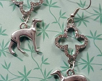 Sparkle Greyhound Galgo or Whippet Earrings