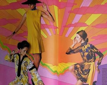 Vintage Vogue Pattern Book International Spring 1970 - 70s Sewing Patterns Catalogue Magazine - 1960s 1970s fashions - wedding dresses