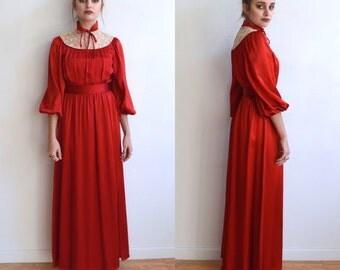 Crimson red dress - Etsy