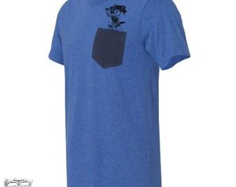 Mens Pocket OTTER T Shirt S M L XL XXL