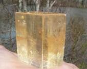 Large Golden Optical Calcite #2 ~ Viking Sun Stone, 216 grams, Mineral Specimen, Iceland Spar, Healing Crystal, Gypsy, Unique, Iridescent