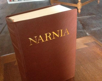 Made to Order Custom Leather Bound Narnia Chronicles Complete Professionally Hand Bound Book