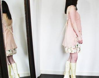 upcycled clothing, upcycled fashion, romantic shift dress . grenada moon . XS - S