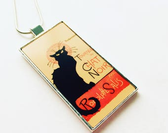 Le Chat Noir Pendant Art Nouveau, Art Nouveau Jewelry, Art Nouveau Necklace, Cat Pendant, Cat Jewelry, Black Cat Necklace, Bohoemian