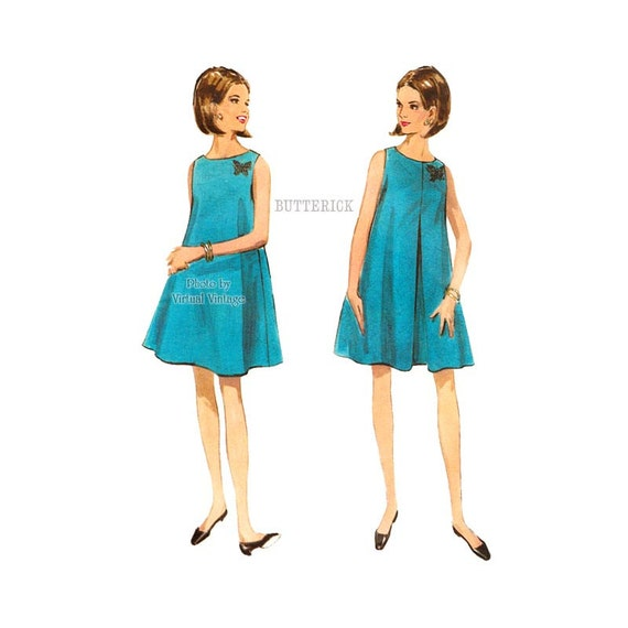 1960s Tent Dress Pattern Butterick 4601 Easy Turnabout Slip-on Sleeveless Dress Sewing Pattern Bust 32 from VirtualVintage on Etsy Studio  sc 1 st  Etsy Studio & 1960s Tent Dress Pattern Butterick 4601 Easy Turnabout Slip-on ...