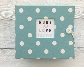 Village Blue Polka Dot | BABY BOOK