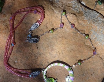 Awesome Enamel Iguana Necklace