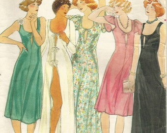 Vintage 70s Butterick 4509 Misses' Knit Night Gown Sewing Pattern Size 12 Bust 34 by John Kloss