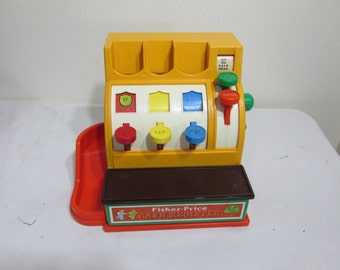 1974 Fisher Price Cash Register NO Coins