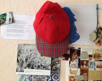 Vintage NewsBoy Cap Red Plaid Medium M
