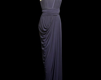 Isabel Draped Jersey Maxi Dress - Made to Order - FREE SHIPPING WORLDWIDE