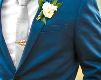 Rose Gold Oak Leaf Tie Bar - Oak Leaf Tie Clip - Mens Tie Clip - Wedding Accessory - Groomsmen Leaf Tie Bar - Woodland Wedding