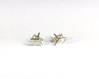 H A N D M A D E / ARUN diamond shaped posts in sterling silver