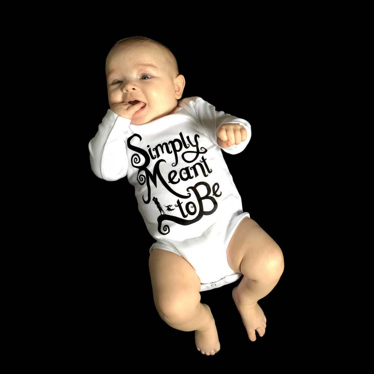 Simply Meant to Be - Baby Long Sleeve Onesie - Multiple Color Options