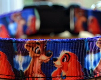 Lady & the Tramp dog collar and leash