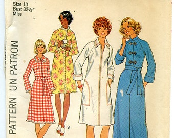Vintage Simplicity 7238 Women's Robe UNCUT Sewing Pattern Size 10 Small Bust 32