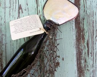 1900 olive beer bottle...Oysters Rockefeller