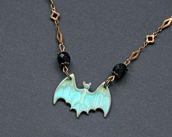 Collier bat : chauve-souris vampire horreur