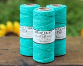Teal Hemp Cord, 1mm, 20lb, 205 Feet, Macrame Cord, Teal   Twine  -T12