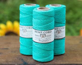 Teal Hemp Cord, 1mm, 20lb, 205 Feet, Macrame Cord, Teal   Twine  -T10