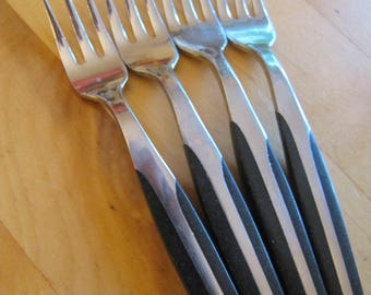 Vintage Eldon Seafood Forks - Stainless Steel - Four Pieces