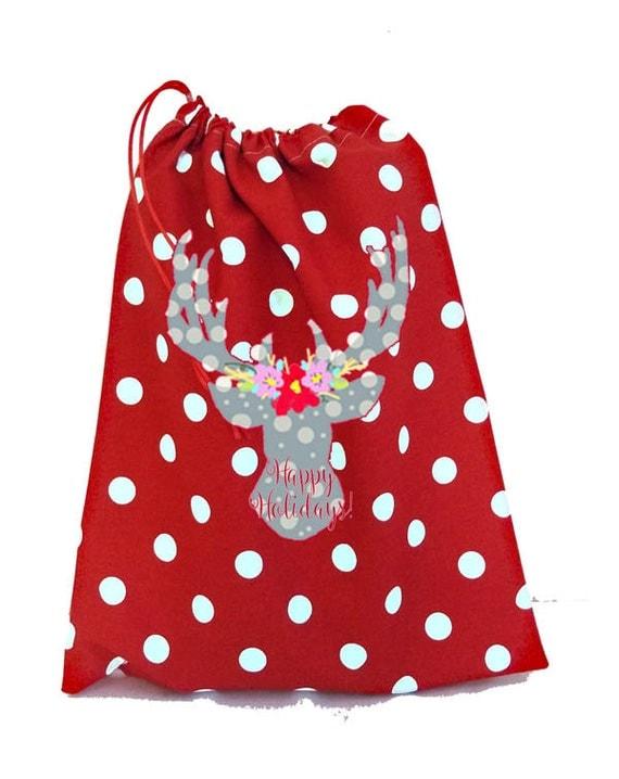 Santa Sacks, Large well made Santa Sack, Gift Wrap, Holiday Decor, Christmas Stockings, Christmas Decorations, Ornaments, Bag, Duffle Bag