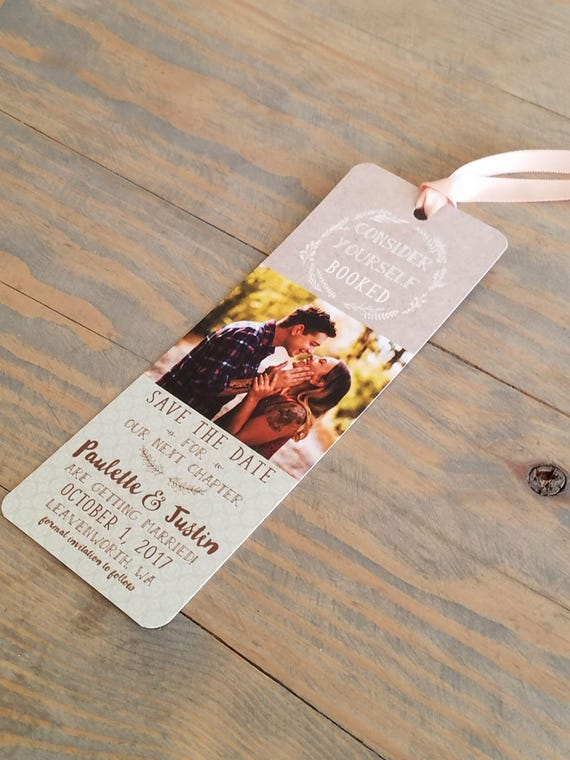 bookmark save the date, save the date bookmark, save the date, bookmark, rustic save the date, custom save the date
