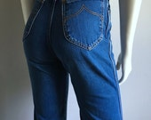Vintage Women's 70's Wrangler Jeans, High Waisted, Straight Leg (XS) 690