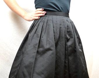 Vintage 1950s 50s Black Skirt - Smart Set Sportswear - XS